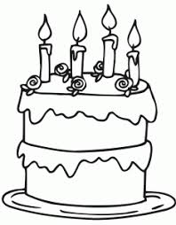 birthday cake coloring birthday preschool theme