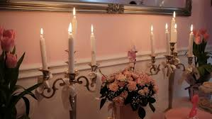 bridal bouquet holder table clip a wedding bouquet stands next to the candles a beautiful wedding