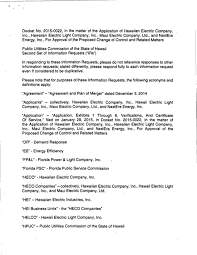 hawaii electric light company puc information requests for nextera and hawaiian electric