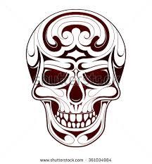 tribal skull stock images royalty free images u0026 vectors