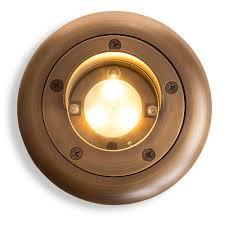 Landscapelightingworld Com by Brass Bully Shielded Integrated Led Well Light Volt Lighting