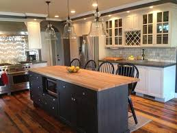 White Kitchen Black Island White Cabinets With Dark Grey Quartz Counter Dark Grey Or Black