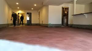 How To Stain A Concrete Basement Floor by Staining A Concrete Basement Floor Youtube