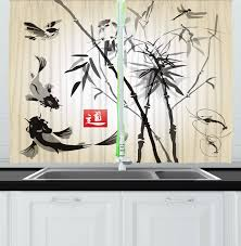 ambesonne kitchen decor collection japanese traditional art garden