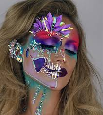 Unicorn Halloween Makeup by Holographic Unicorn Skull Halloween Makeup Popsugar Beauty