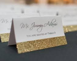 wedding place cards wedding place cards glitter place cards cards