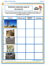 materials and structures worksheet u2013 studychamp