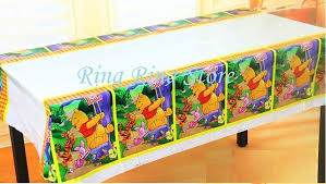 lovely winnie the pooh birthday table cloths disposable decoration