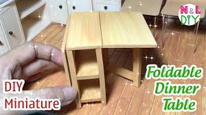 how to make a dinner table diy miniature foldable dinner table how to make foldable dinner