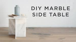 Marble Side Table Diy Marble Side Table