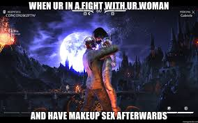Jason Voorhees Meme - when ur in a fight with ur woman and have makeup sex afterwards