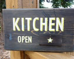 Closed Kitchen Kitchen Closed Sign Etsy