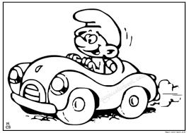 kid driving car coloring