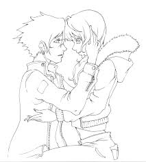 anime couple coloring pages draw 5193