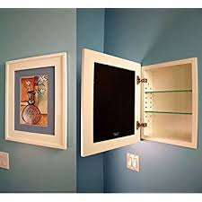amazon com wc 418 solid wood in the wall bathroom recessed