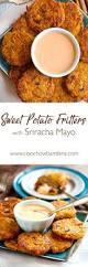 how to make sriracha mayo sweet potato fritters with sriracha mayo ciao chow bambina