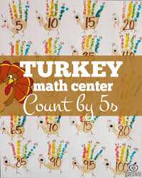 thanksgiving math activity for the primary grades count by 5s