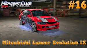 midnight club los angeles mitsubishi lancer evolution ix ps3