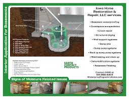 Interior Basement Drainage System Interior Drainage Des Moines Iowa Home Restoration U0026 Repair Llc