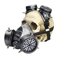 Gas Mask Halloween Costume Aliexpress Buy Punk Gothic Silver Resin Military Game