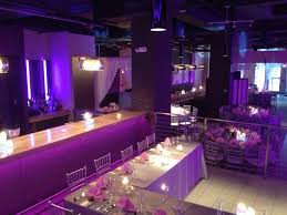 Purple Table L Purple Wedding Reception At A Restaurant Purple Lighting Silver