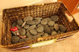 wishing rocks for wedding handcrafted hitching post post wedding project displaying our