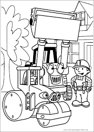 bob builder color coloring pages kids cartoon