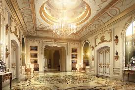 lobby with luxury decor 3d cgtrader