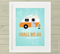 Retro Camper Retro Camper Wall Art Inspirational Wall Quote Camping