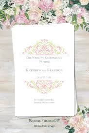 wedding program design template wedding program templates diy printable order of service tagged