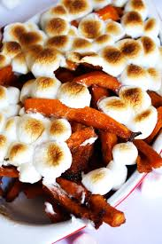 yams thanksgiving marshmallows brown sugar sweet potato fries with marshmallows