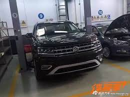 volkswagen crossblue interior teramont production spec crossblue spied in china