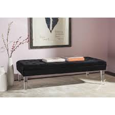 safavieh ambrosia black bench mcr4699b the home depot