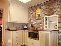 exposed brickwork wallpaper brick backsplash kitchen brick