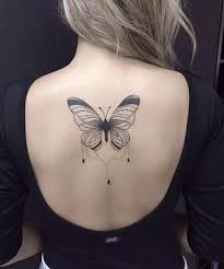 eye catching big butterfly tattoos on back for styles beat