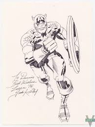 captain america sketch jack kirby in comicart b u0027s captain