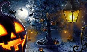 blue halloween background hd halloween wallpapers for your pc wallpapers uc forum