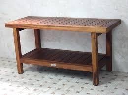 corner teak wood shower bench u2014 teak furnitures home