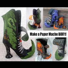 how to make paper mache witch boo u0027t pdf tutorial
