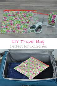 Wyoming travel toiletries images Easy diy travel bag my big fat happy life png