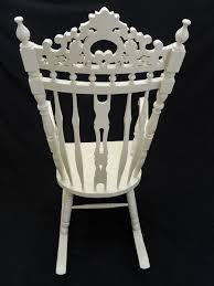 Esszimmerstuhl Jinte Schaukelstuhl Stuhl Im Antiken Stil Creme Weiß 2051 Ebay