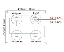 cllena dual usb socket charger 2 1a u00262 1a led voltmeter 12v