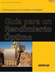 manual seleccion cucharones excavadoras caterpillar