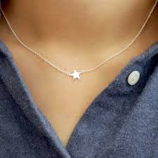 star sterling silver necklace images Shop dainty star necklace on wanelo jpg