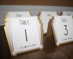 silver wedding table numbers art deco table numbers gold or silver or custom color gatsby