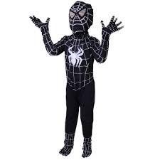 aliexpress com buy kids black spiderman costume halloween