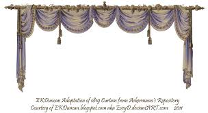 Blue Swag Curtains 1819 Swag Curtain Blue Purple By Eveyd On Deviantart