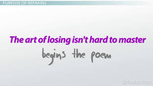 refrain in poetry definition exles lesson transcript
