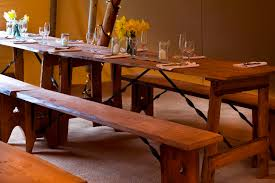 Old Wooden Table And Chairs Handcrafted Rustic Vintage Wooden Table And Bench Hire South