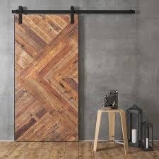 reclaimed wood artisan 40 in solid reclaimed wood barn door